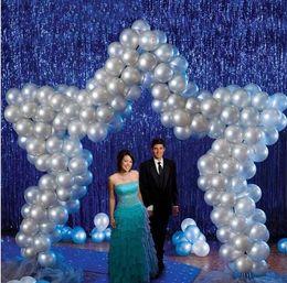 Metallic Sparkly tassel Laser Waterfall curtain party wedding Backdrop decoration 9.5cmX100cm room birthday festive christmas decor supplies