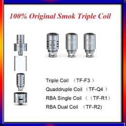 Authentic Smok Tfv4 coils Triple Coil(TF-F3 )Quaddruple Coil(TF-Q4 )RBA Single Coil(TF-R1)RBA Dual Coil(TF-R2) for SMOK TFV4 Tank DHL