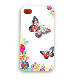 Wholesale Beautiful Butterfly Design Hard Plastic Mobile Phone Case Cover For iPhone 4 4S 5 5S 5C 6 6 Plus