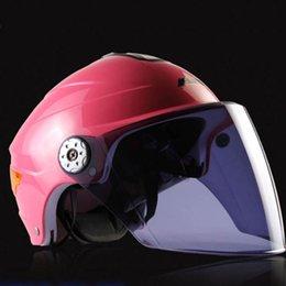 Al por mayor-calidad ABS Material de la carcasa para mujer Rosa Iron Man completa o Open Face parasol extraíble Casco ABS Casque Motocross PJ40 helmet removable visor promotion desde visera extraíble casco proveedores