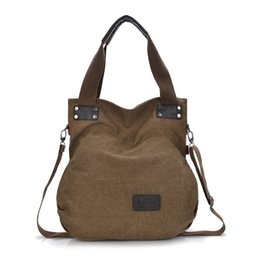 European Style Women's Casual Canvas Top-Handle Bag Shoulder Bag Casual Everyday Purse Shopping Bag School Bag College