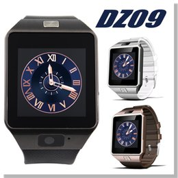 Wholesale Smartwatch Latest DZ09 Grade A Bluetooth Smart Watch For Apple Samsung IOS Android Cell phone inch SIM Card Free DHL