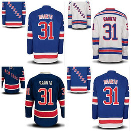 2016 New, New York Rangers Men's 31 Antti Raanta Navy Blue White Jersey Third Alternate Raanta Ice Hockey Jerseys