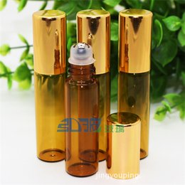 Dark Brown Glass Bottes Ball On Bottles 5ml Perfume Bottles for Essential Oil on Sale Factory Wholesale Price