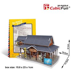 Wholesale 3D Puzzles World Style Series Architecture Styles TaiWan Classical Architecture Puzzles Best Gift For Kids EMS DHL