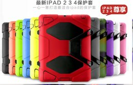Wholesale DHL Three Anti Drop Dirt Shock Survive Silicon set Extreme conditions Ultra Full Protective case All Terrain for iPad