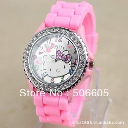 Free shipping 11 colors 5pcs lot Hello Kitty silicone fashion Watches for women and girls 5pcs lot