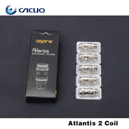 2017 aspire atlantis mega Jefes original Aspire Aspire Atlantis bobina inferior vertical de la bobina Aspire atomizador BVC bobina para Aspire Atlantis 2 / Mega T aspire atlantis mega baratos