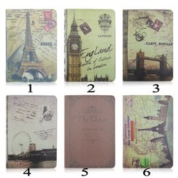 Wholesale For iPad Air2 Eiffel Tower Big Ben London Bridge London Eye Design PU Leather Case Stand Case