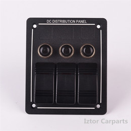 Wholesale 50 Gang Aluminium LED Rocker Circuit Breaker Waterproof Marine Boat Rv ON OFF Switch Panel