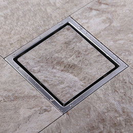 Wholesale Two sided Tile Insert Square Floor Waste Grates Bathroom Shower Drain x MM