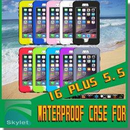 Wholesale Iphone Case Waterproof Case Touch ID Fingerprint identify Underwater meters Colorful Swimming Sport Case Shockproof Dustproof Case