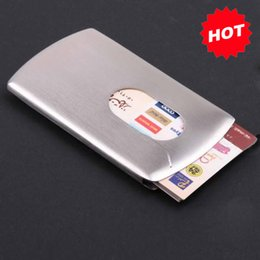 Wholesale 2016 New Arrival Push Out Auto Open stainless steel name business card holder case box Novelty gifts TNCH022