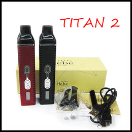 Wholesale 2015 Titan Dry Herb Vaporizer Titan II Hebe Kit With LCD Display Of Tempreture And Hebe mah Battery