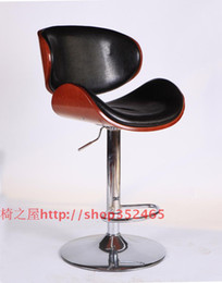 Wholesale High grade solid wood chair bar chairs high chair stool bar chair at the front desk chair stool lifting revolving chair YB