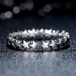 Star Earrings in 925 Sterling Silver Promise Engagement Rings for Women R049