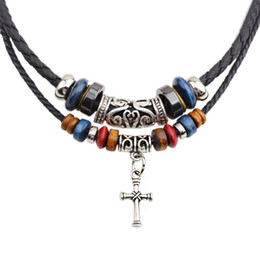 Wholesale Factory Necklace jewelry manufacturers in Europe and the United States foreign religious Necklace double cross necklace