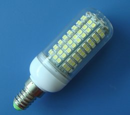 E14 White bulb lamp light 140 LED 3528SMD 220~240V 5W with cover Super Bright