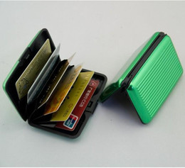 Wholesale Promotion price Aluminium Credit card wallet cases Colors For Options card holder bank card case alum