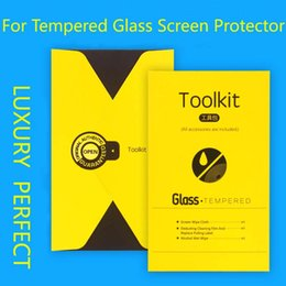 Wholesale Luxury Top Quality Tool Bag Package Paper Alcohol Cloth Sticke For Phone Cell Tempered Glass Screen Film Packaging Box With Full Accessories