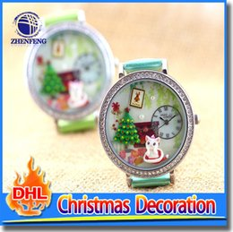 Wholesale Grass Watches Peak Green Analog Imitation Leather Wrist Watch Xmas Girl Woman Gift For Xmas Party
