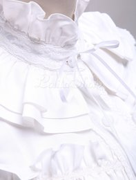 Wholesale White Stand Collar Cosplay Costumes