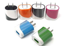 colorful 5V 1A Us wall charger adapter plug egg roll style charger for mobile iphone 8 samsung S8 mobile