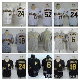 Wholesale 2015 New Pittsburgh Pirates Baseball Jersey Shirt Starling Marte Neil Walker Pedro Alvarez Joel Hanrahan Jersey