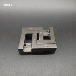 Metal Cast Square Ring Puzzle Reassemble Games, Adult Mind Puzzles Toys Gift Kid Child Teaching Prop Toy
