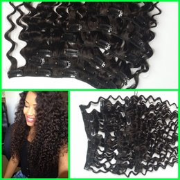 clip in hair extensions cheap virgin brazilian human hair deep curly deep wave human hair G-EASY