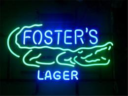 Wholesale New Fosters Australian Lager Glass Neon Sign Light Beer Bar Pub Arts Crafts Gifts Lighting Size quot