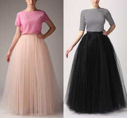 Fashion Women Tutu Skirts Long Party Dresses All Colors 5 layer Floor Length 2016 Long Tutu Tulle Skirt A Line Free Shipping