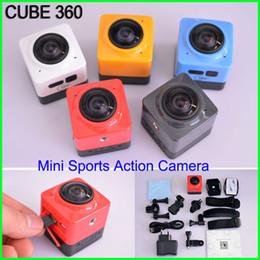 Wholesale 360 Degree Panoramic View Action Camera cube VR Camera Build in WiFi Sports Camera H Video with GVT100M DSP Mini Camcorder