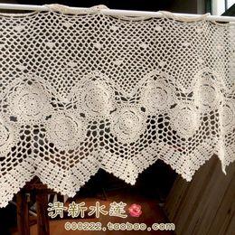 Wholesale 2014 cotton crochet lace curtain window cover crochet rod curtain cutout coffee curtain air curtain beige