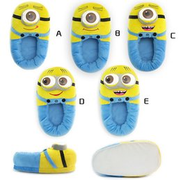 Wholesale 5Pairs styles quot cm Despicable Me Slippers Minions Plush Stuffed Cuddly Fluffy Collectible Jorge Gift