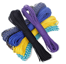 Wholesale 100FT pc m paracord Parachute Cord Lanyard Rope Mil Spec Type III Strand core colors for option