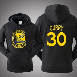 New Hot Sale Hooded Pullover Basketball Golden State Stephen Curry Warriors Spring Autumn Winter Hoodies Men Cotton Sports Sweatshirts