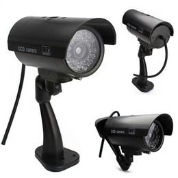 Drop shipping Wonderful Outdoor Indoor Fake Surveillance Security Dummy Camera Night CAM LED Light EA10516