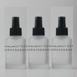 125ml clear transparent frosted Glass travel refillable perfume bottle with black plastic atomizer sprayer,perfume container