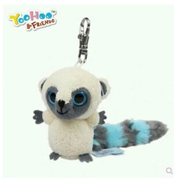 Wholesale Yoohoo lovely galago cm plush animal figurines bag pendant for babys gift yyx001