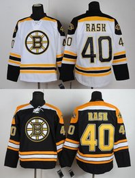 Promotion gros n Factory Outlet, Vente en gros Tuukka Rask Boston Bruins Jersey Rask Jeu de hockey Cheap N ° 40 Tuukka Rask Jersey Noir Blanc Cheap Men's Stitched