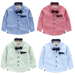 Wholesale Export brand baby boy clothes kids clothing boys clothes shirts bow gentle childrens clothing shirts fashion British western style