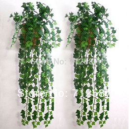 Artificial Ivy Leaf Garland Plants Vine Fake Foliage Flowers Home decor 7.5 feet