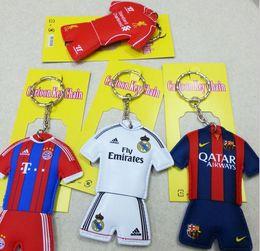 Wholesale 9 Style National Team Football Shirt Double Side Kids Girls Hanging Key Ring Keychain Pendant Novelty PVC Keychain Gifts Present K3122