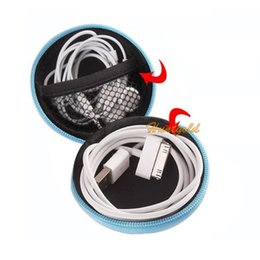 Wholesale Round Carrying Case Storage Bag Caddy Trinket Box for Key Coin MP3 Earphone Cable
