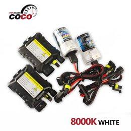 Wholesale Slim Hid Lights - 1Set 8000K white DC 12V 55W light bulb H1 H3 H7 H8 H9 H10 H11 9005 9006 880 881 H4 Xenon HID Kit Car Headlight Slim Ballast