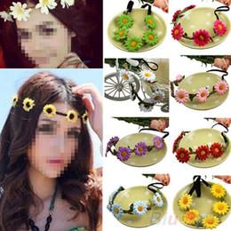 Wholesale Festival Party Wedding Women Boho Style Floral Flower Hairband Headband HPF