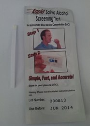 Wholesale Cheap Disposable Alcohol Tester Saliva Alcohol Test Kits Rapid Alcohol Testing Strip gadget DHL EMS