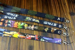 Wholesale 2016 Frozen Star Wars Cell Phone Lanyard Neck Straps Cartoon Jedi Knight Darth Vader Mobile Phone Lanyard Keychain Straps Charms Gifts E412