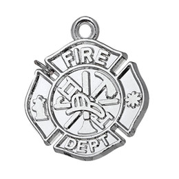 Wholesale New Fashion Easy to diy fire dept firemen charm for bracelets jewelry making fit for necklace or bracelet